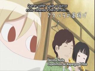 Wakako-zake - Episodio 10 - Décima Noite - Espetinhos de Aspargos Fritos